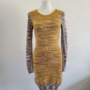 French Connection Long Sleeve Chevron Dress